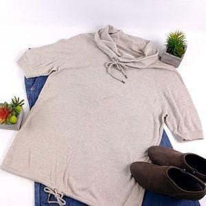 Ann Taylor LOFT Lounge Grey Cowl Neck Sweater A48E